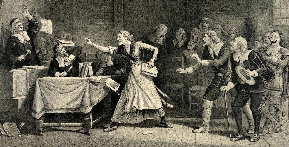 Lithograph from Salem Witch Trials by George H in 1892