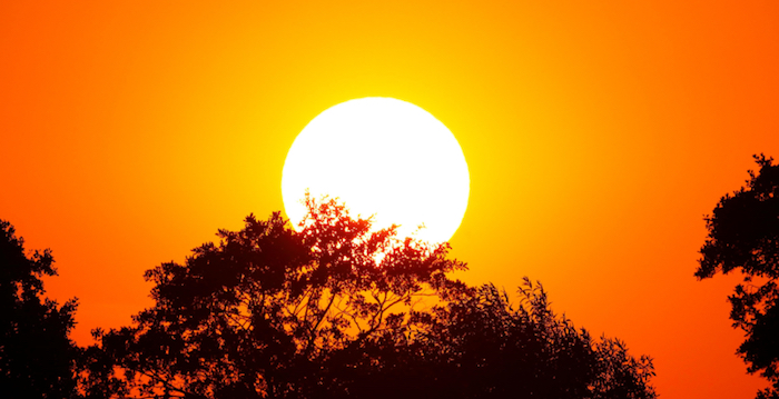 sun rising or setting